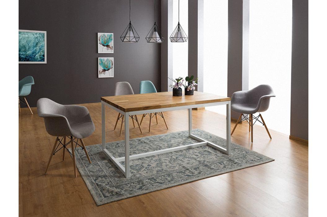 Jedálenský stôl Loras A (dub + biela) (pre 4 osoby)