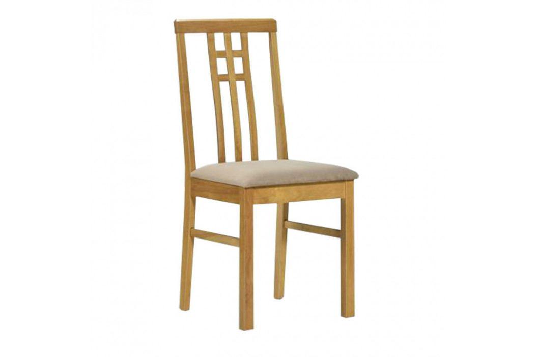 Jedálenská stolička Silas (dub sonoma + krémová)