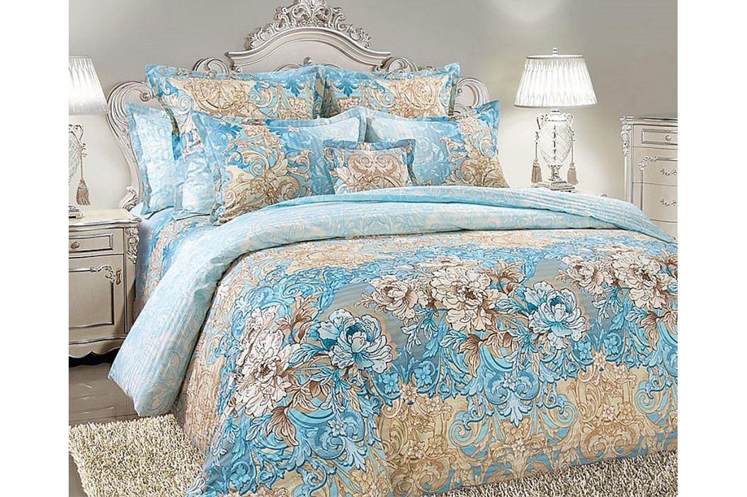 Obliečky Vivien modré 220x200 dvojlôžko - standard Bavlnený satén