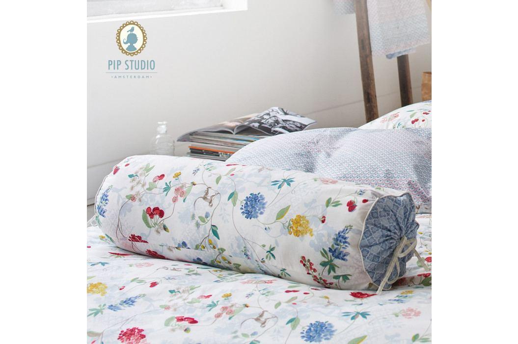 Vankúš valček Pip Studio hummm Birds White 22x70 cm biela
