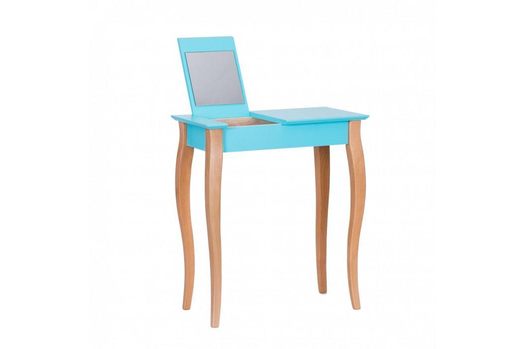 Tmavotyrkysový toaletný stolík sozrkadlom Ragaba Dressing Table,dĺžka65cm