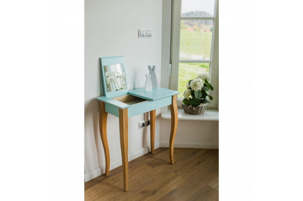 Ružový toaletný stolík sozrkadlom Ragaba Dressing Table,dĺžka65cm