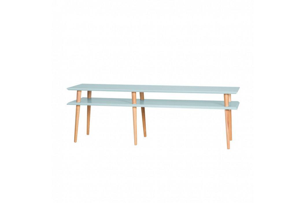 Svetlotyrkysový konferenčný stolík Ragaba Mugo, 159 cm