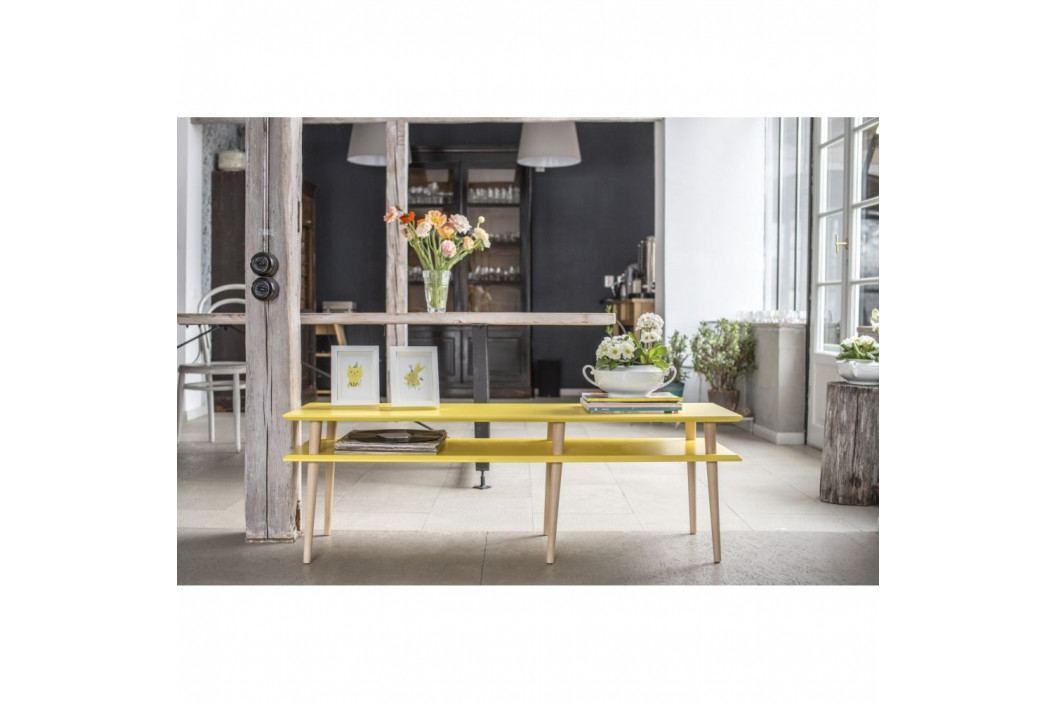 Svetlosivý konferenčný stolík Ragaba Mugo,dĺžka 159cm