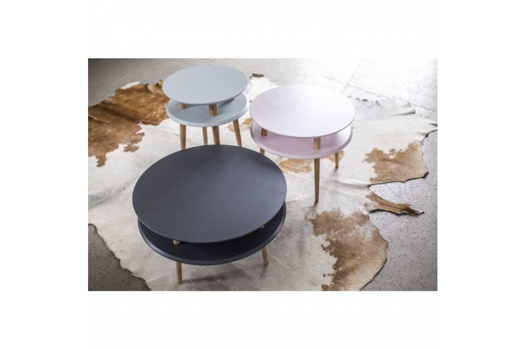 Ružový konferenčný stolík Ragaba UFO,Ø70cm
