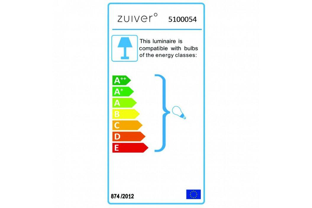 Biela stojacia lampa s nohami v medenej farbe Zuiver Tripod