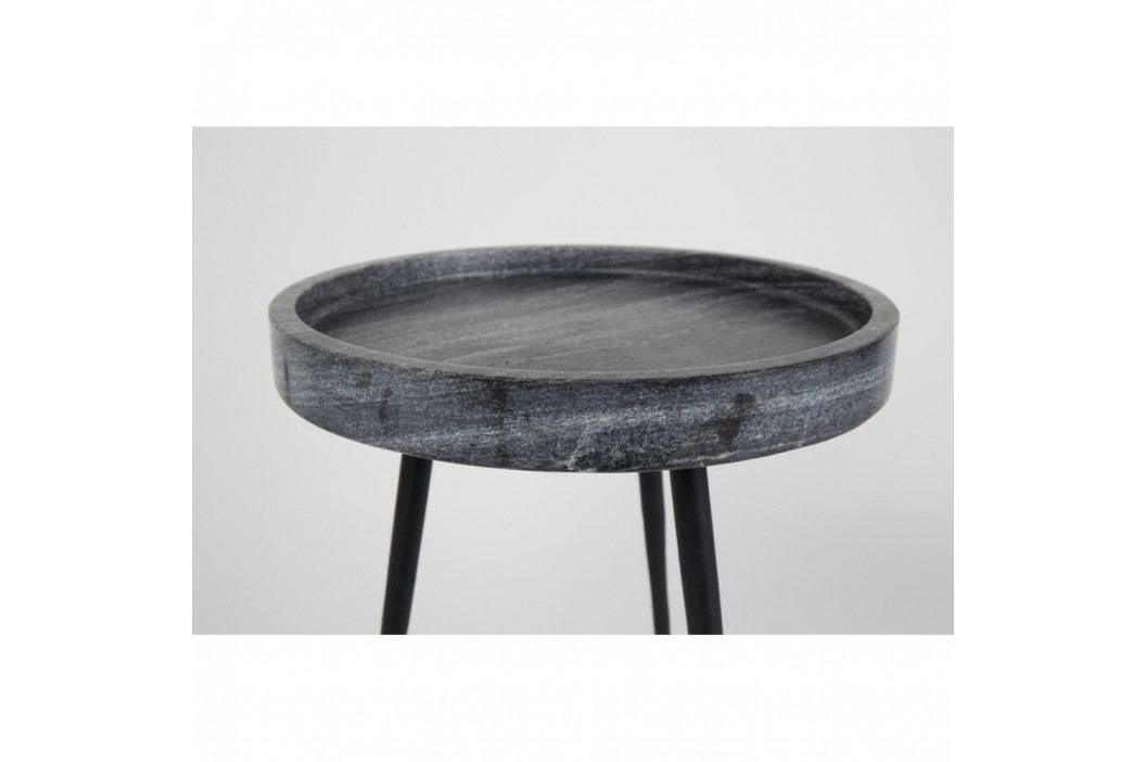 Odkladací stolík s doskou v dekore kameňa Zuiver, Ø 50cm