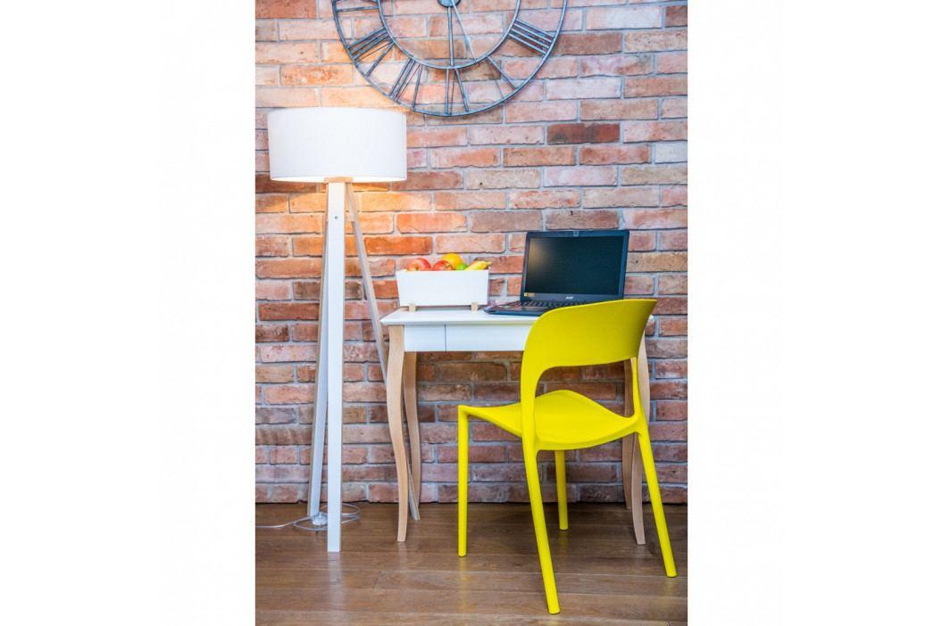 Ružový písací stôl Ragaba Lillo,dĺžka65cm