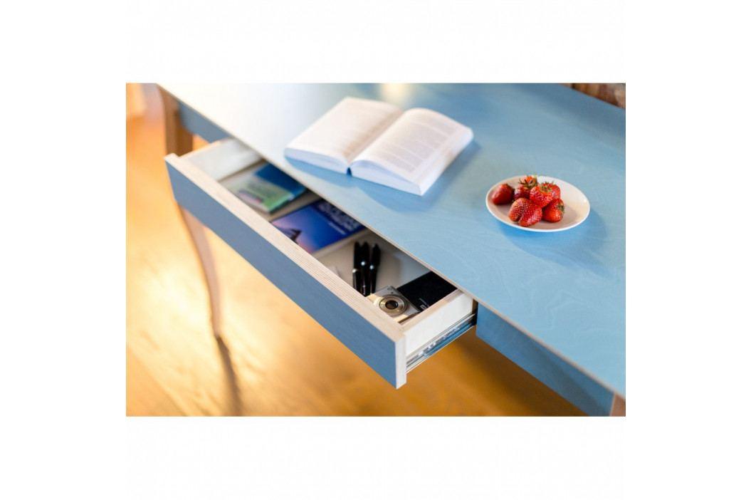 Svetlotyrkysový písací stôl Ragaba Lillo,dĺžka105cm