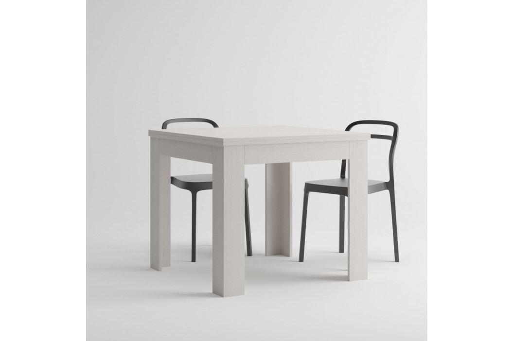 Rozkladací jedálenský stôl v dekore bielej borovice MobiliFiver Eldorado, dĺžka 90-180cm
