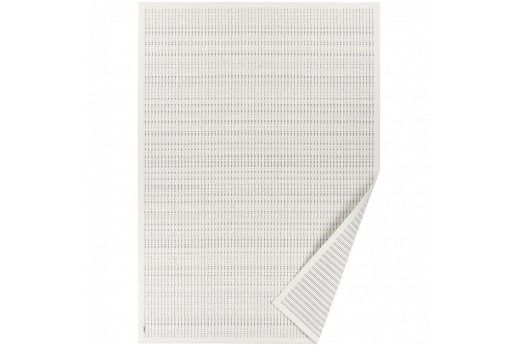 Biely vzorovaný obojstranný koberec Narma Esna, 140x200cm