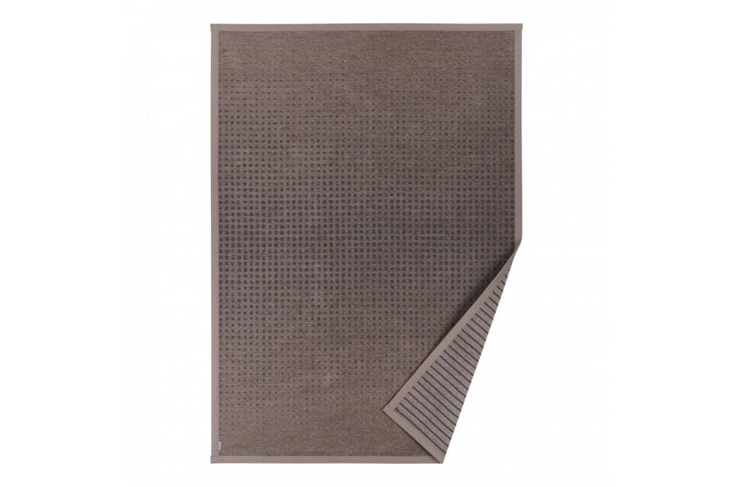 Hnedý vzorovaný obojstranný koberec Narma Helme, 70×140cm