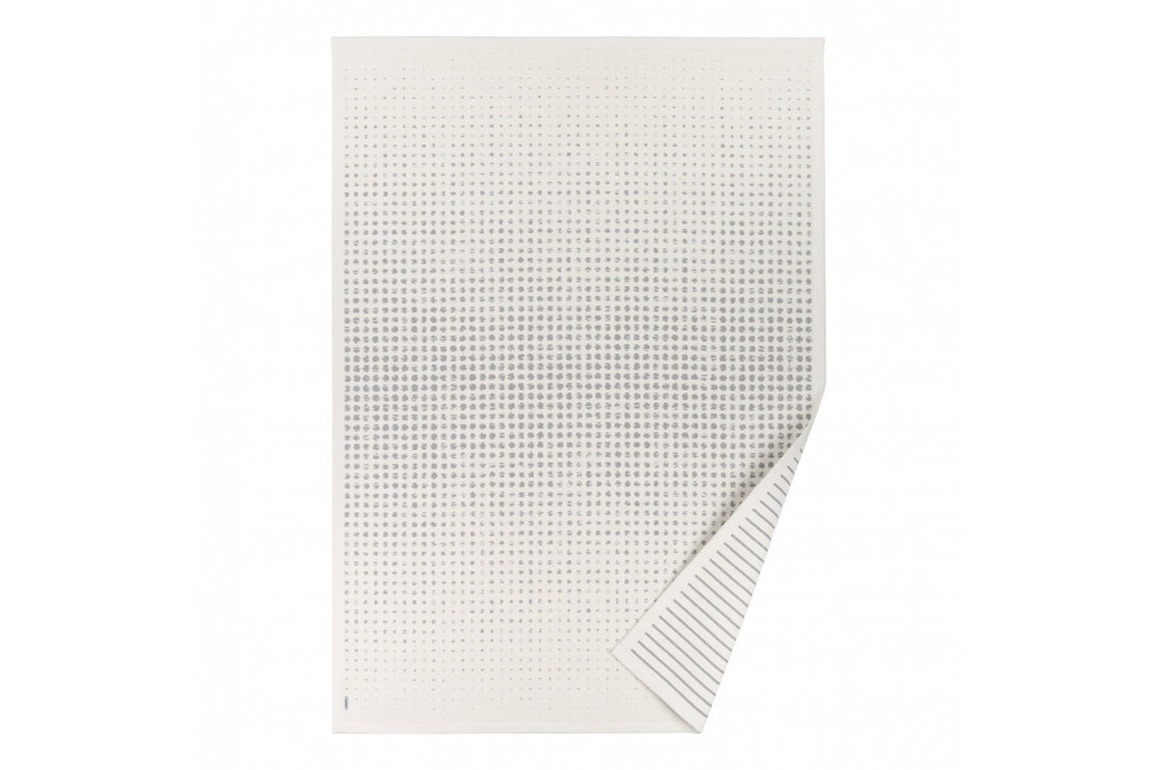 Biely vzorovaný obojstranný koberec Narma Helme, 140×200cm