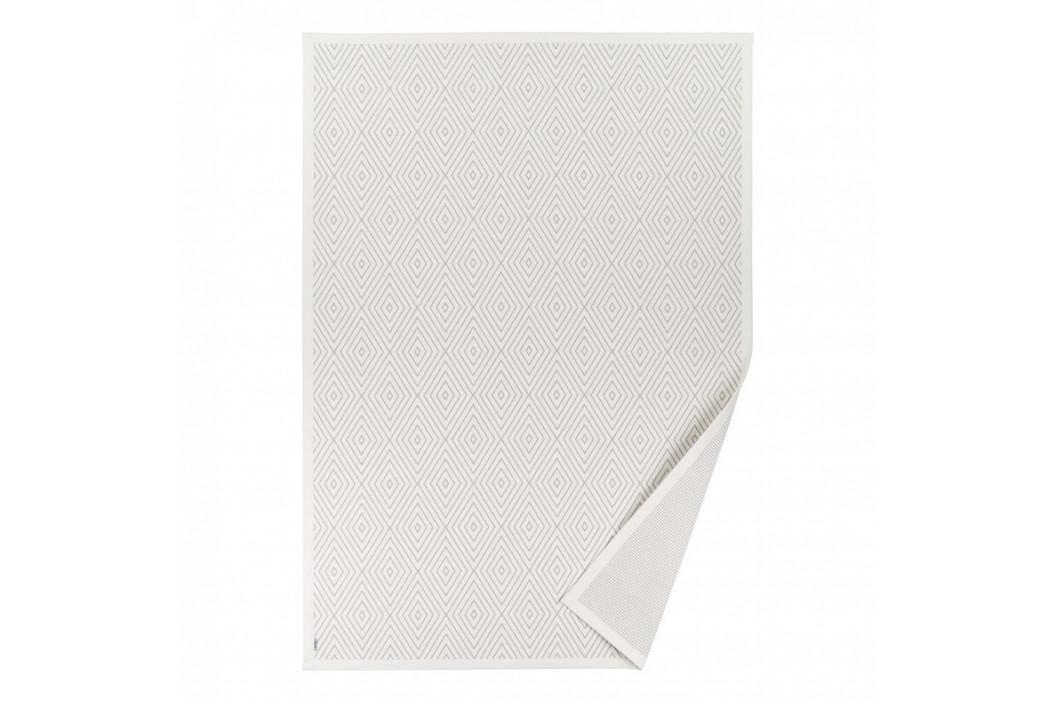Biely vzorovaný obojstranný koberec Narma Kalana, 70×140cm