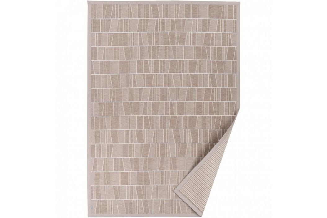 Béžový vzorovaný obojstranný koberec Narma Kursi, 70 × 140 cm