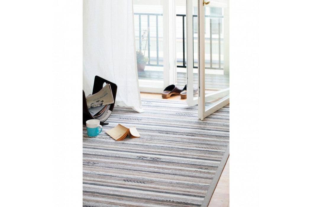 Sivo-béžový vzorovaný obojstranný koberec Narma Liiva, 70×140cm