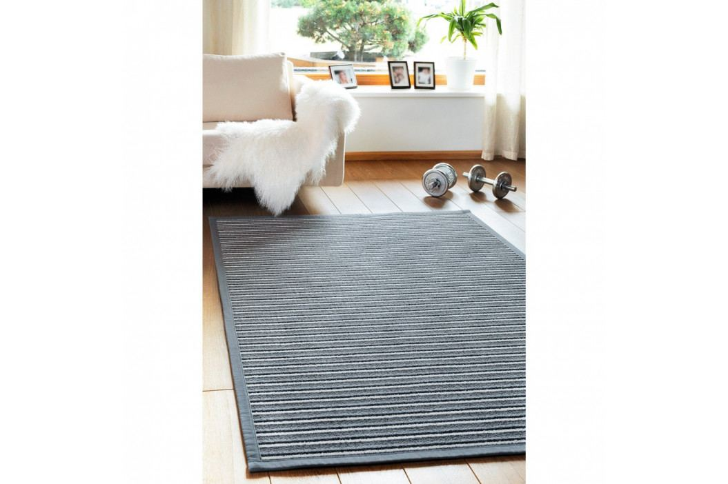 Sivý vzorovaný obojstranný koberec Narma Märdi, 70x140cm