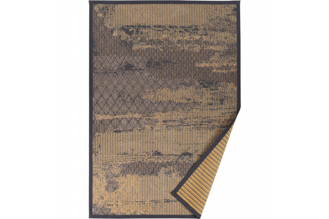 Béžový vzorovaný obojstranný koberec Narma Nehatu, 70x140cm