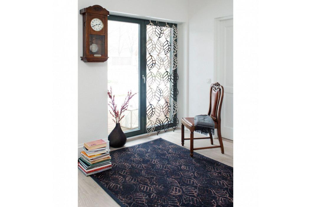Antracitovosivý vzorovaný obojstranný koberec Narma Niidu, 70×140cm
