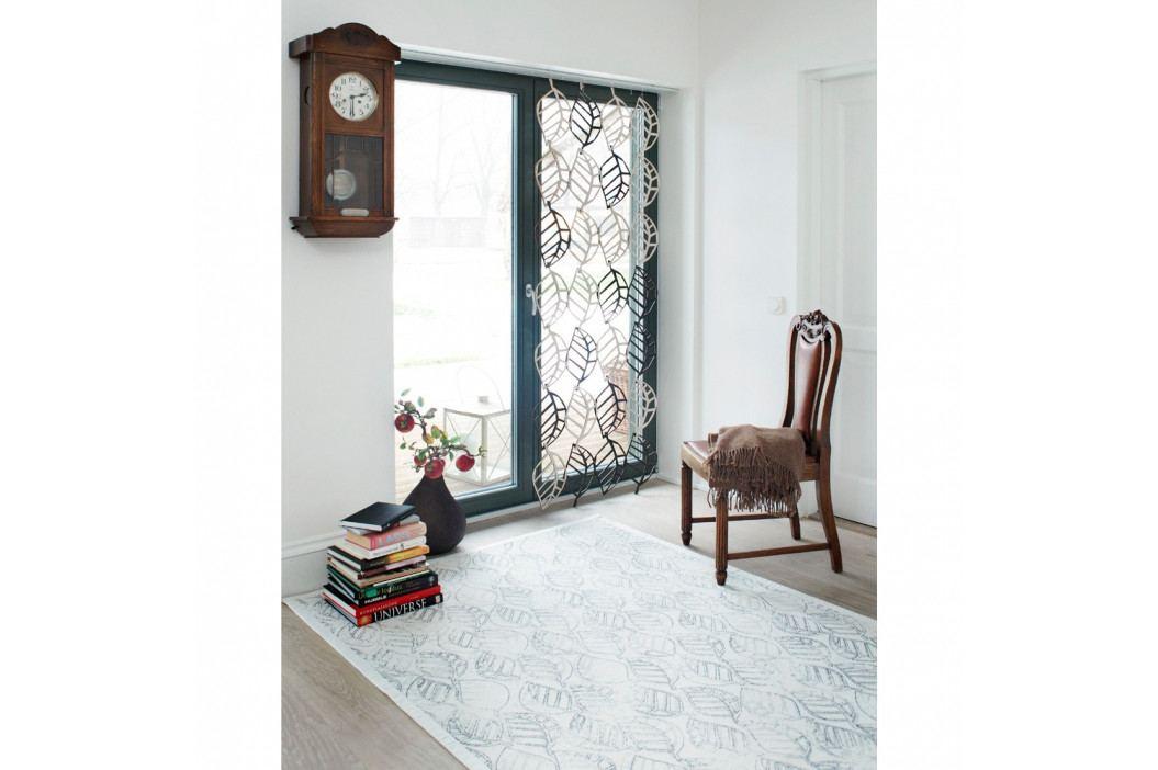 Biely vzorovaný obojstranný koberec Narma Niidu, 70×140cm