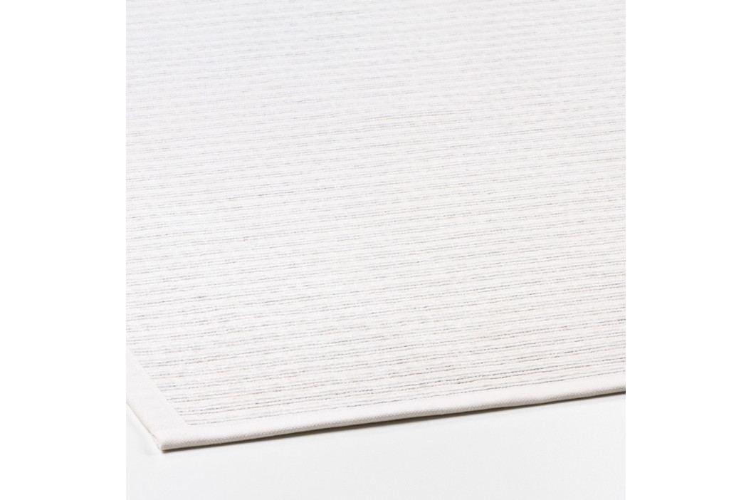 Biely vzorovaný obojstranný koberec Narma Niidu, 140×200cm