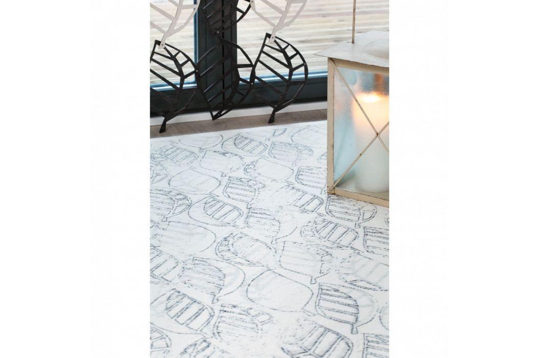 Biely vzorovaný obojstranný koberec Narma Niidu, 160×230cm