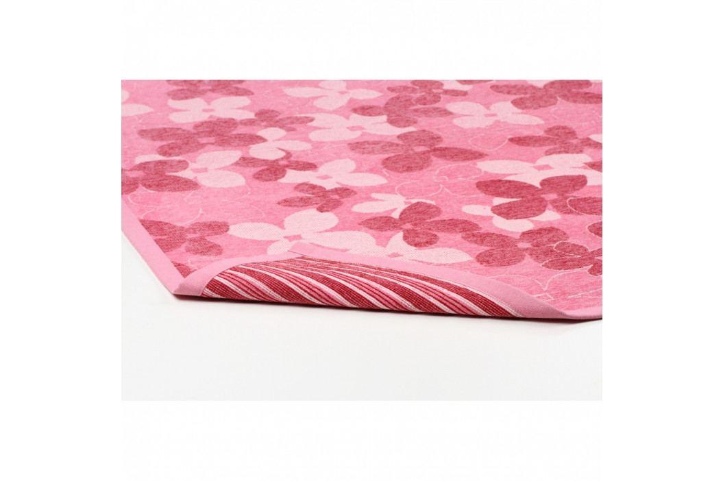 Ružový vzorovaný obojstranný koberec Narma Nurme, 70x140cm