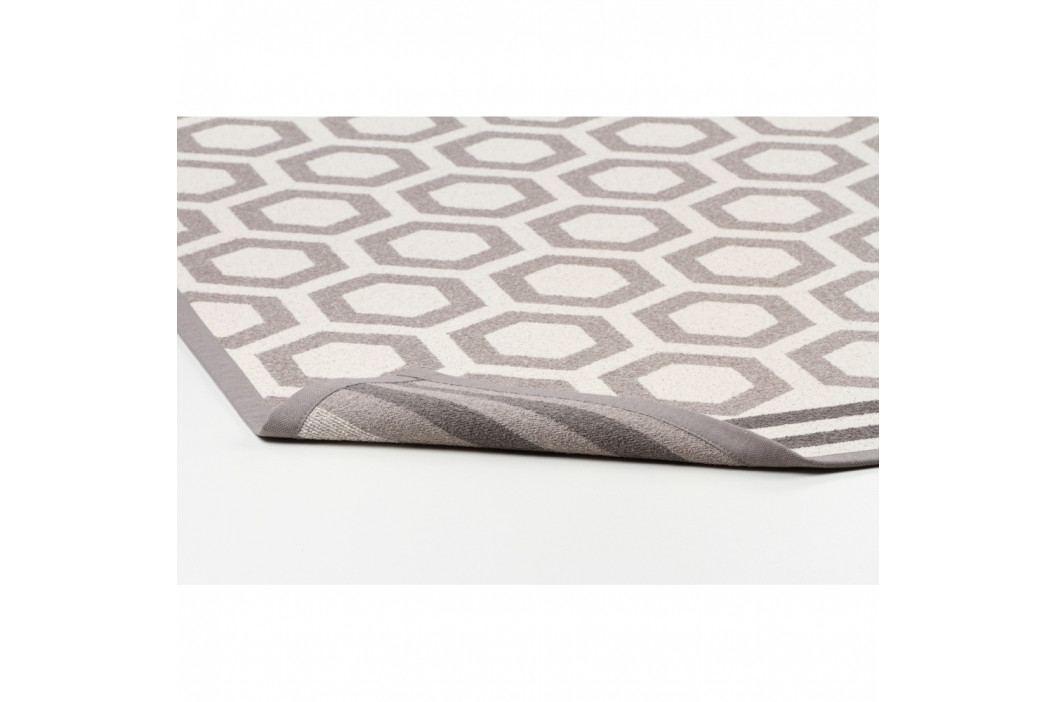 Béžový vzorovaný obojstranný koberec Narma Oore, 70x140cm
