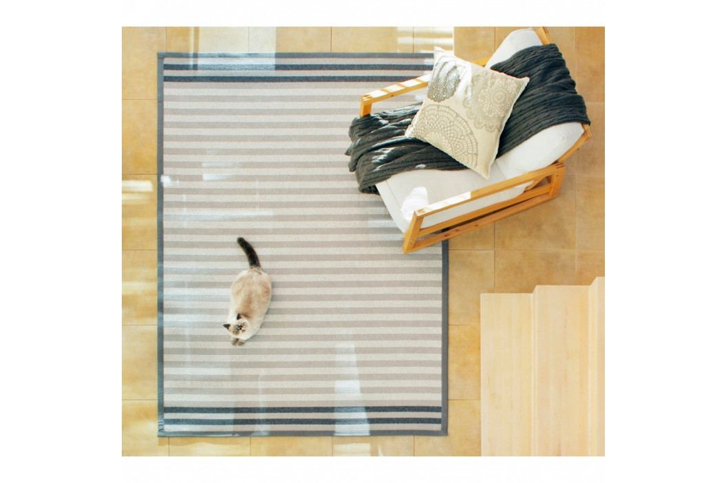 Sivý vzorovaný obojstranný koberec Narma Oore, 70x140cm