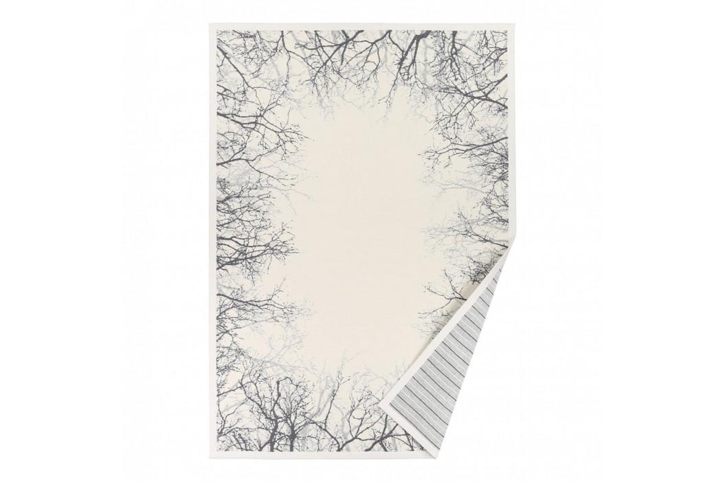 Biely vzorovaný obojstranný koberec Narma Puise, 140x200cm