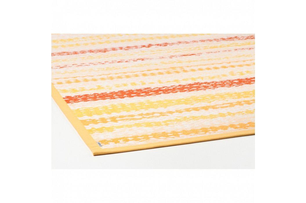 Žltý vzorovaný obojstranný koberec Narma Saara, 70×140cm