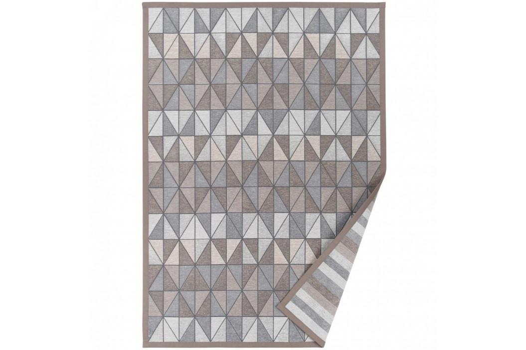 Sivo-béžový vzorovaný obojstranný koberec Narma Treski, 70x140cm