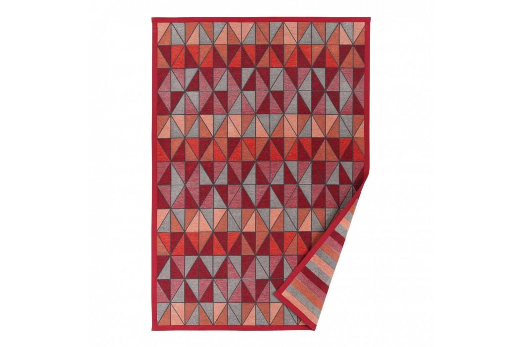 Červený vzorovaný obojstranný koberec Narma Treski, 140 × 200 cm