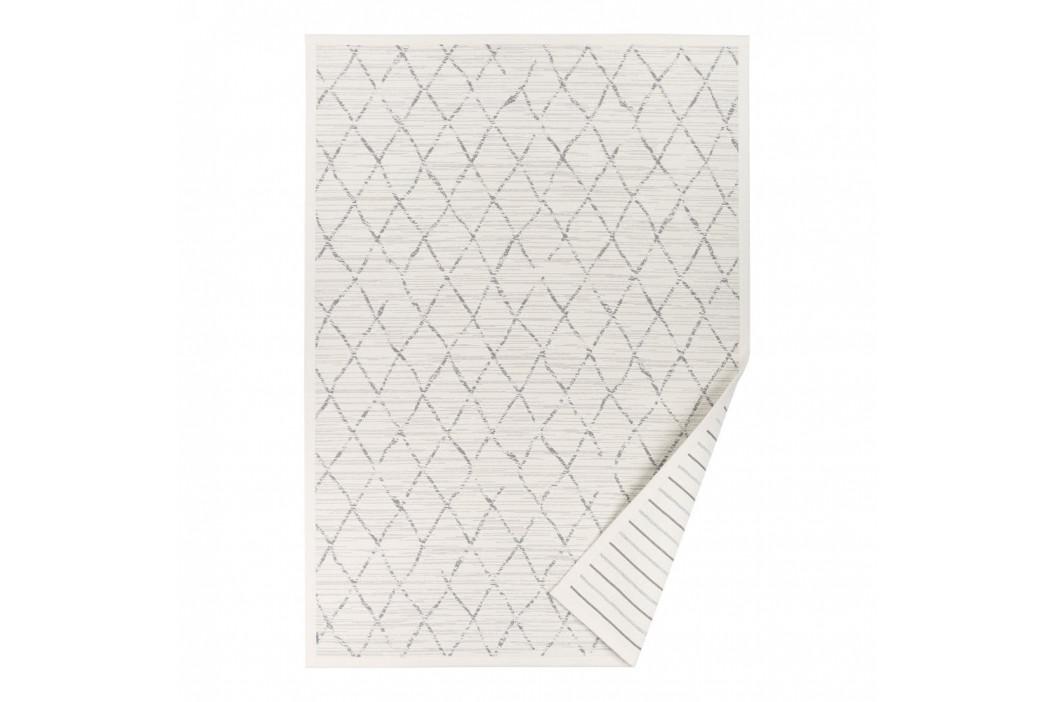 Biely vzorovaný obojstranný koberec Narma Vao, 70×140cm