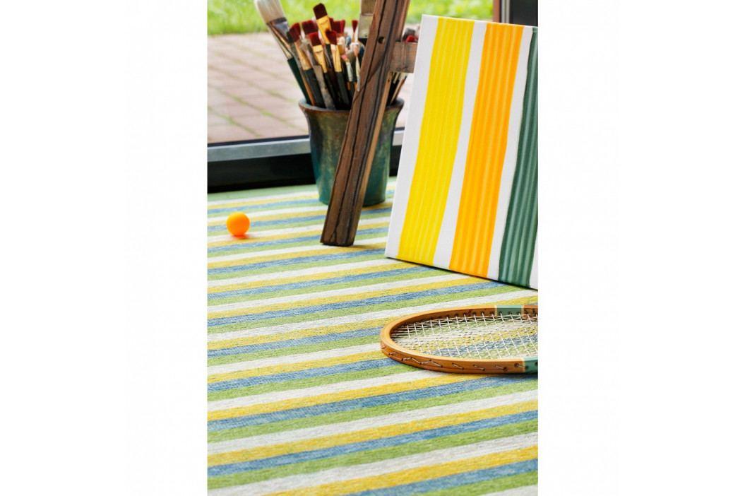 Zelený vzorovaný obojstranný koberec Narma Veere, 70x140cm