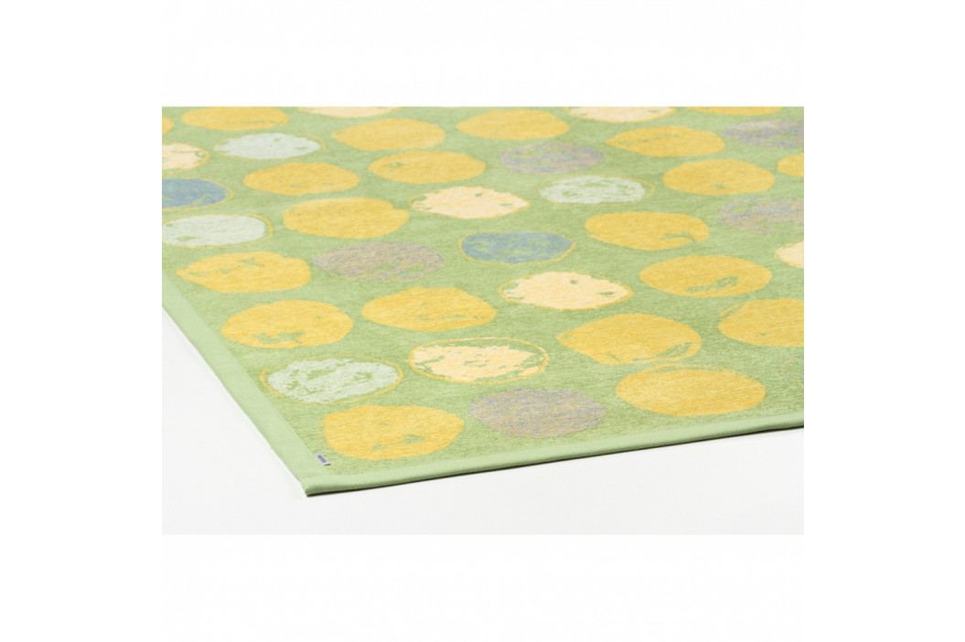 Zelený vzorovaný obojstranný koberec Narma Veere, 140x200cm