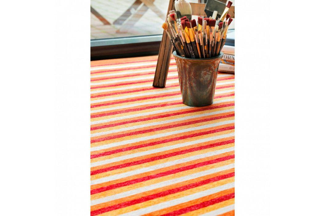Oranžový vzorovaný obojstranný koberec Narma Veere, 70x140cm