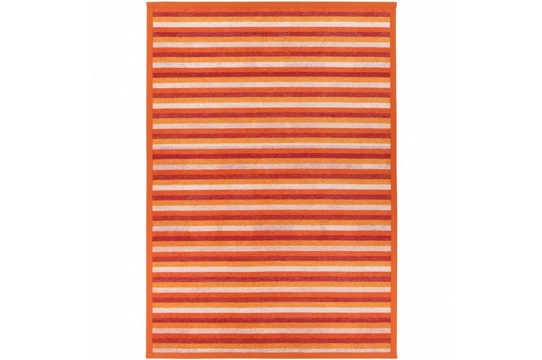 Oranžový vzorovaný obojstranný koberec Narma Veere, 140×200cm