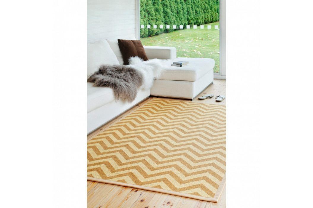 Béžový vzorovaný obojstranný koberec Narma Viita, 70×140cm