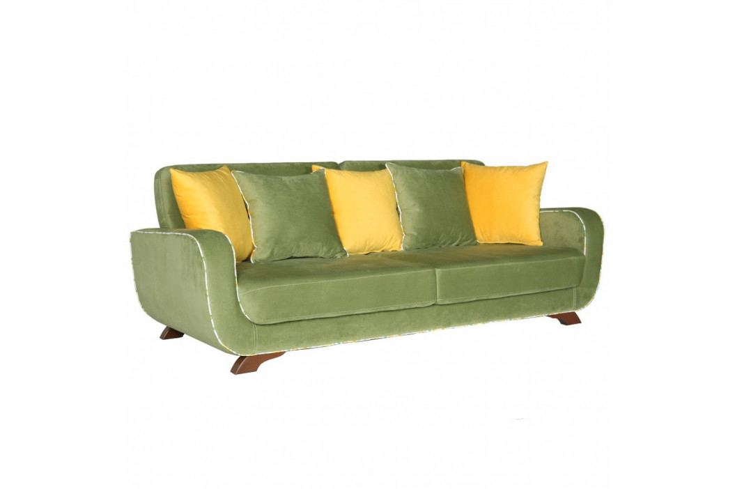 Zelená trojmiestna pohovka Sinkro Frank