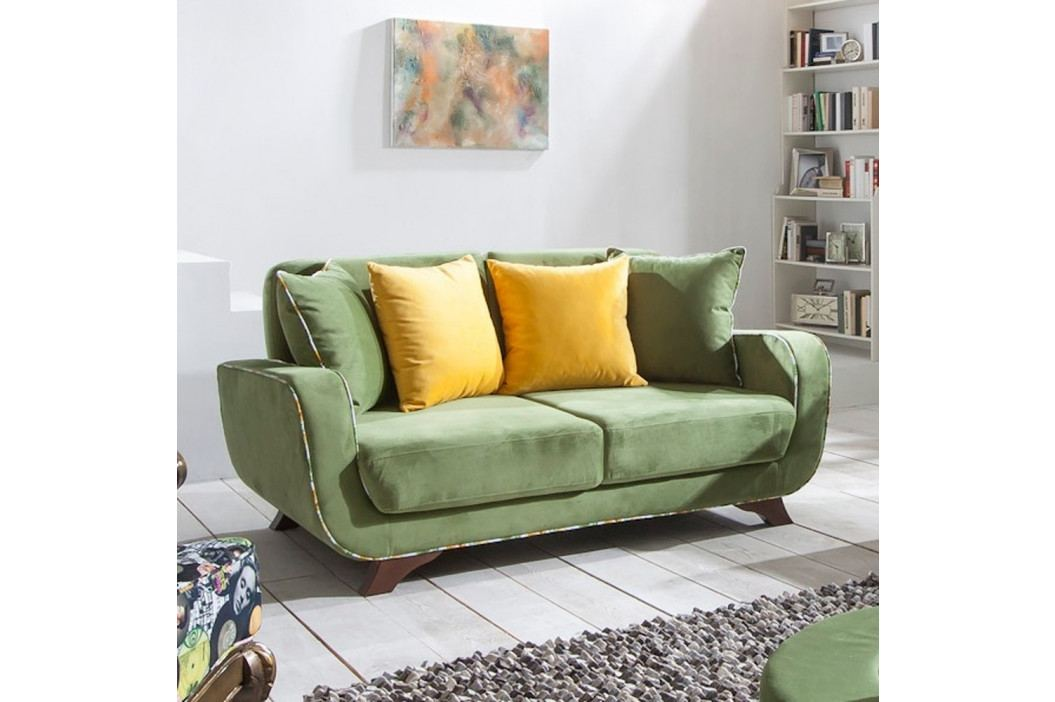 Zelená dvojmiestna pohovka Sinkro Frank