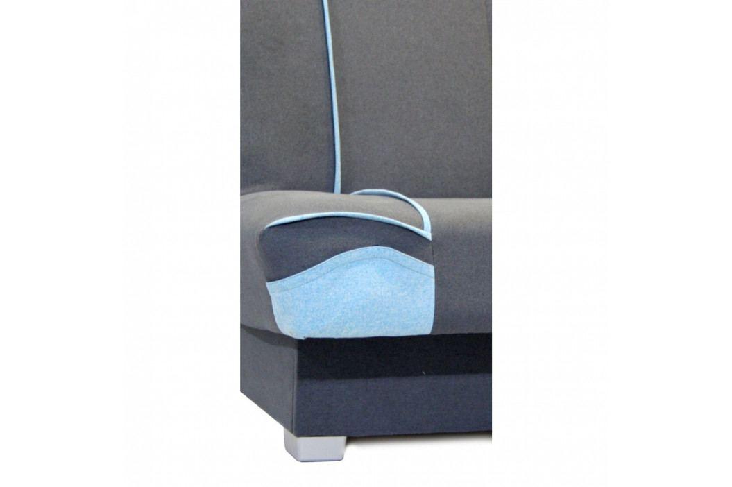 Modro-sivá rozkladacia pohovka Sinkro Karl