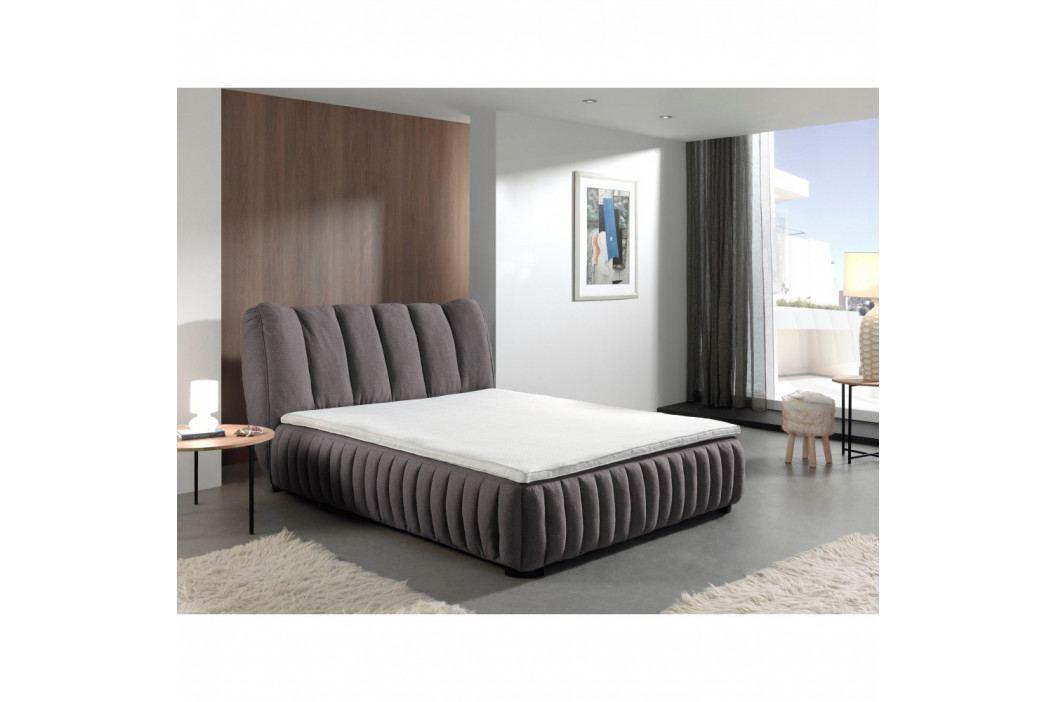 Tmavosivá dvojlôžková posteľ Sinkro Michelle, 160 × 200 cm