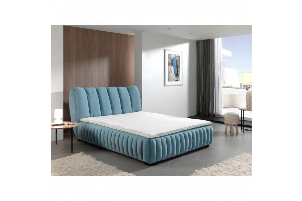 Modrá dvojlôžková posteľ Sinkro Michelle, 160 × 200 cm
