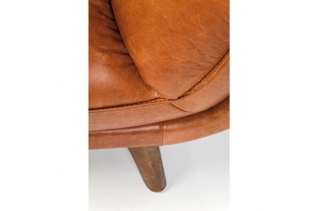 Koňakovohnedá kožená pohovka Kare Design Bruno