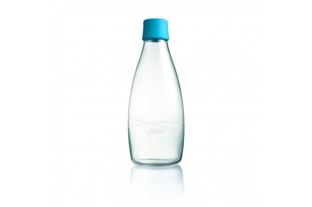 Svetlomodrá sklenená fľaša ReTap s doživotnou zárukou, 800ml