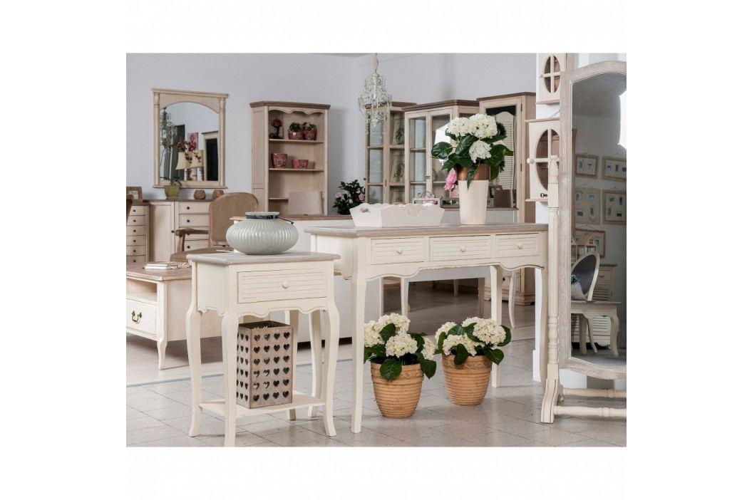 Krémový jedálenský stôl z topoľového dreva Livin Hill Pesaro