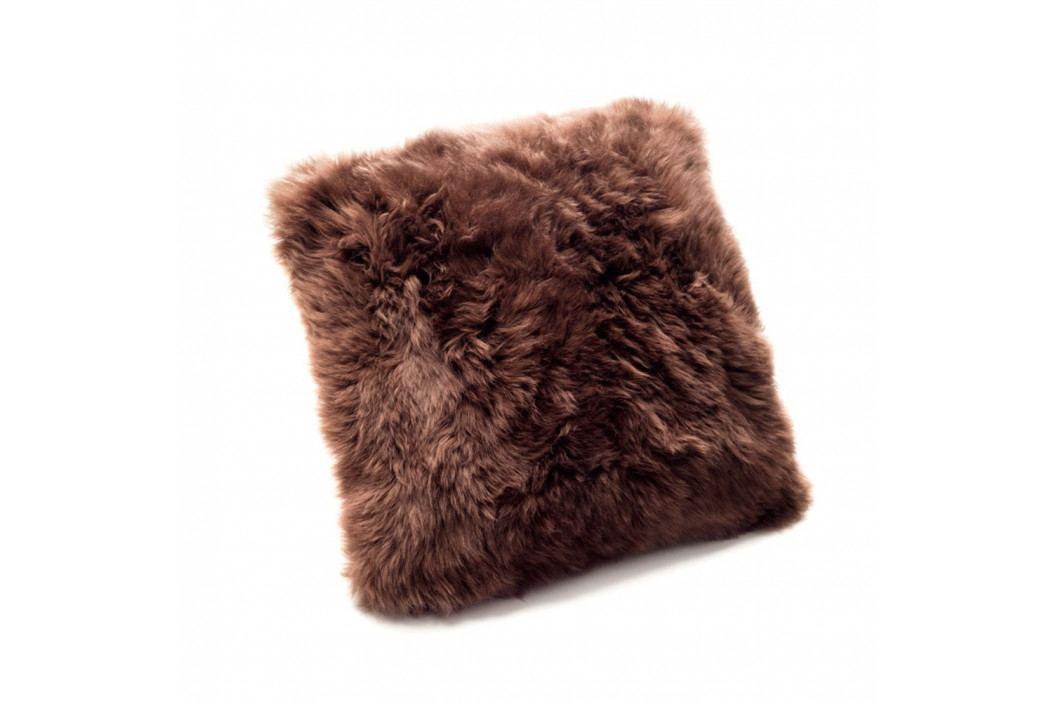 Hnedý vankúš z ovčej kožušiny Royal Dream Sheepskin, 30×30cm