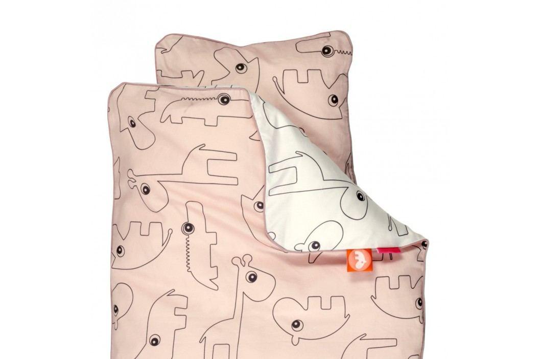 Detské ružové obliečky Done By Deer Contour, 70 x 100 cm