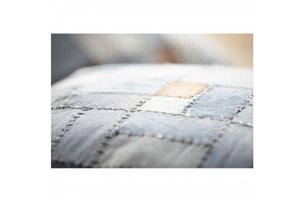 Vankúš z recyklovanej džínsoviny Fuhrhome Miami, 45×45cm